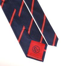 Cravates en soie brodées tissées par Jacquard des hommes avec le logo