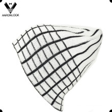 100%Acrylic Grid Jacquard Lattice Pattern Beanie for Men
