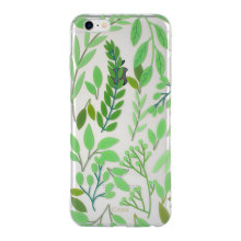 New arrival Slim Green Leaf back cover phone case for iphone6 plus