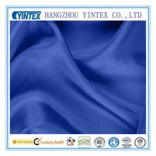 Tejido de seda azul de poliéster Roal para prendas de vestir