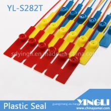 Sello de etiqueta de plástico desechable en 282 mm