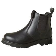 Schwarzer Stahl Zehenseitiger Elastischer Stiefel