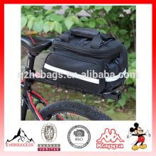 Sac de selle de bicyclette imperméable à l'eau de vélo de sac à dos arrière de sac à main de sac à main