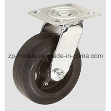 4 Zoll Heavy-Duty Eisen Gummi Swivel Caster Rad