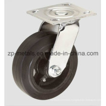 4inch Heavy-Duty Iron Rubber Swivel Caster Wheel