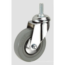 3inch Gray Rubber Thread Industry Caster Without Brake