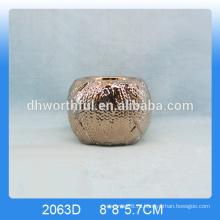 Высокое качество золотой керамический подсвечник для домашнего украшения