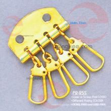 Accesorios de metal dorado de la cartera del porta llaves (P2-25S)