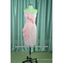 Satén tulle arco iris vestidos de novia rosa suave tull rodilla longitud de la falda del hombro