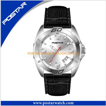 Newest Fashion Quartz Watch with Genuine Leather Band