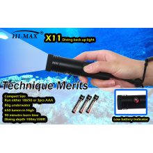 HI-MAX 18650/AAA battery small LED 650 Dive Torch