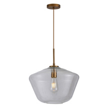 Nordic simple head light luxury glass pendant lamp