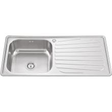 10050 Tazón de fuente único con el fregadero de la cocina de la placa