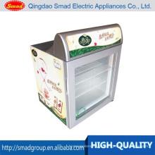 Tipo mini congelador da porta de vidro congelador para a exposição do gelado
