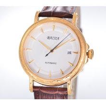 Hersteller Herrenuhr Mechanische Uhr mit Lederarmband