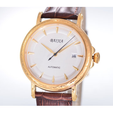 Manufacturer Men′s Watch Mechanical Watch with Leather Watchband