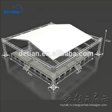 Система Ферменной конструкции spigot алюминиевого шатра ферменной конструкции с регулируемой по высоте деревянной сцене
