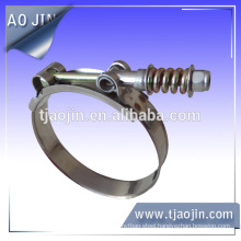"""Standard Spring Loaded T Bolt Clamp 3/4"""" (19mm) Band"""