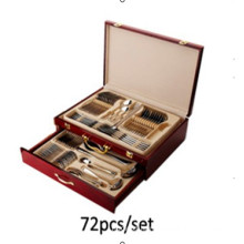 72PCS Stainless Steel Tableware/Cutlery Set High Class Flatware