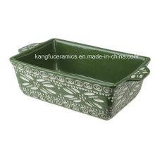 Utensilios de cocina ovalados de cerámica con mango