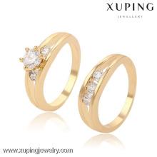 13397-Xuping Moda mais recente banhado a ouro anel projetos para presentes de aniversário de casamento