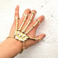 Halloween punk exaggerated ghost hand skull bracelet metal texture ligature bracelet