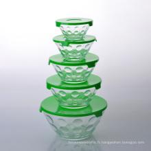 Ensemble de rangement de 10 pièces en verre empilable Imperial Home