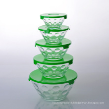 Imperial Home 10 Piece Stackable Glass Storage Bowl Set