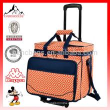 Bolsa de enfriamiento con ruedas aislada, vajilla, refrigerador de ruedas con recorrido por la playa, bolsa de almacenamiento rodante-HCC0027