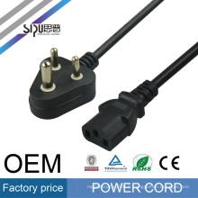SIPU usine prix style pour PC / ordinateur portable en gros meilleur prix AC câble Inde cordon d'alimentation