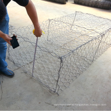 Hot dipped galvanized gabion 2x1x1m hexagonal box standard gabion size