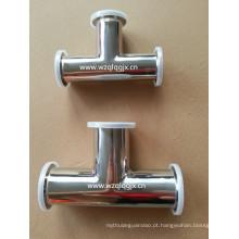 3A 304 / 316L Sanitary aço inoxidável Clamped Equal Tee
