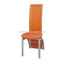 Bankett Rückenlehne Esszimmerstuhl, hochwertige PVC Metall Esszimmerstuhl für Hotel