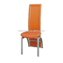 Banquete Backrest Dining Chair, Upscale PVC Metal Dining Chair para o Hotel