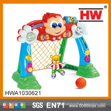 Funny cartoon plastic toy football gate with light and music mini football goal