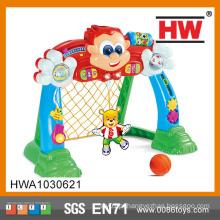 Engraçado, desenho, plástico, brinquedo, futebol, portão, luz, música ...