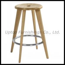 Venta al por mayor de café de restaurante utilizado ronda de taburete de madera maciza (SP-EC835)