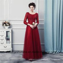 Mangas compridas vestidos de dama de honra vestidos de dama de honra de alta qualidade tule