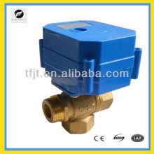 Actuador elctrico de 3 vías con válvula de bola de latón eléctrica con válvula de bola para sistema de agua caliente y bomba circula sistema de agua