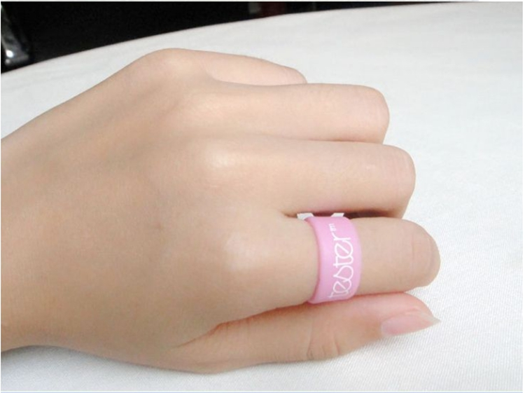 Pinkprinted Silicone Ring