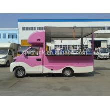 Pequena China 2015 feita estilo carros Vending, caminhão de alimentos móvel colorida para venda