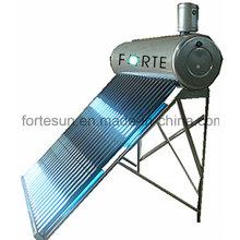Calentador de agua solar 150L compacto, sin presión, tubo de vacío