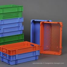 Récipient d'insertion rétrofilé pour le transport de légumes des caisses en plastique couleur / logistique de la série Pantong