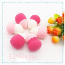 Двухцветная косметическая пуховая губка, красивая красочная губка для макияжа, косметическая губка для макияжа для очистки лица