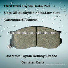 Plaquette de frein avant Toyota Van Wagon de qualité OE D263