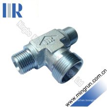 Metric Male Bite Type Reducer Tee Adapter Hydraulic Fitting (AC)