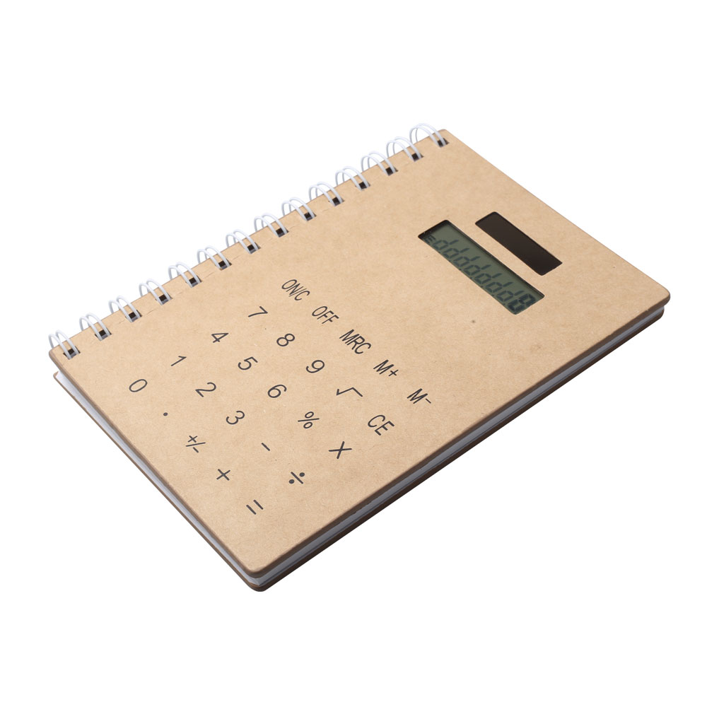 Energia Solar 8 Dígitos Papelaria Notebook Calculator