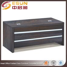 Escritorio de oficina de madera de la venta de los muebles de oficina de la melamina caliente con la línea blanca adorna
