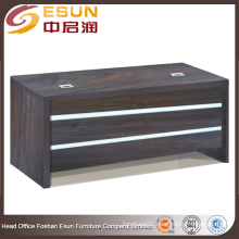 Hot sale office furniture Melamine executive wooden office desk with white line decorate