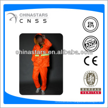 orange safety raincoat